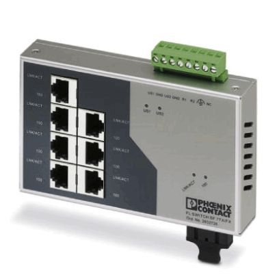 Phoenix Contact Industrial Ethernet Switch 2832726 Typ FL SWITCH SF 7TX/FX